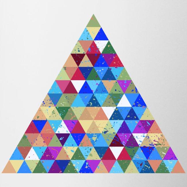 Dreieck Geek Hipster Ornament Grunge Regenbogen
