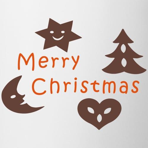 Pfefferkuchen Weihnachten Tannenbaum - Tasse zweifarbig