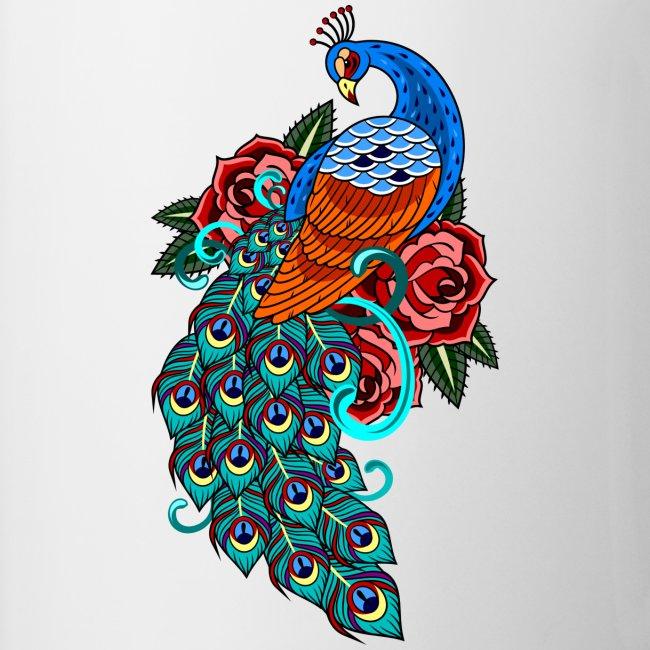 Farverig påfugl