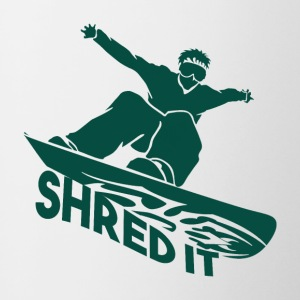 SHRED IT - Boarder Puissance - Tasse bicolore