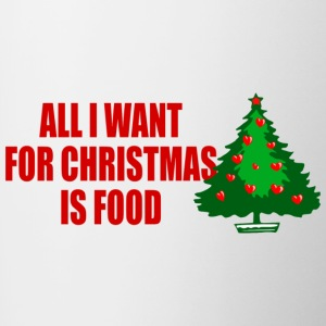 all i want for christmas is food - Contrasting Mug