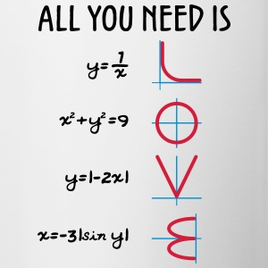 All you need is Love (Equations) - Tasse zweifarbig