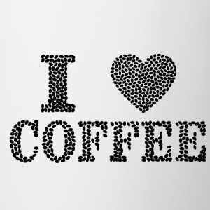 I Love Coffee - Tasse zweifarbig