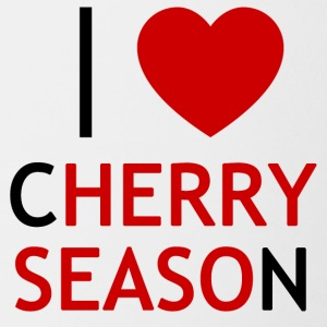 I Love Cherry Season T-shirt - Tofarvet krus