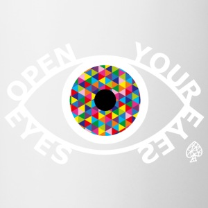 Shapes - Open Your Eyes White - Mok tweekleurig
