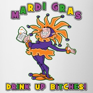 Mardi Gras Drink Up Bitches - Tasse bicolore