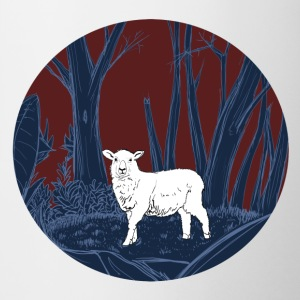 Sheep in the forest - Contrasting Mug