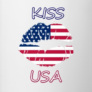Kiss USA - Tofarvet krus