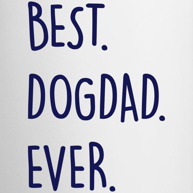 Vorschau: best dogdad ever - Tasse zweifarbig