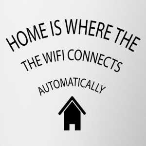 Home is where the Wifi connects automatically - Contrasting Mug