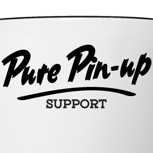 Pure Pin-Up Support - Mug contrasté