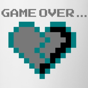 Game Over. Rotto infelice Pixel Cuore - Tazze bicolor