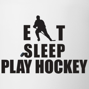 Hockey Eat Sleep Play Hockey - Contrasting Mug