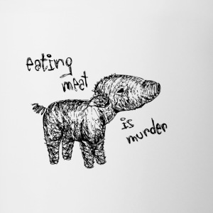 Eating meat is murder - Contrasting Mug