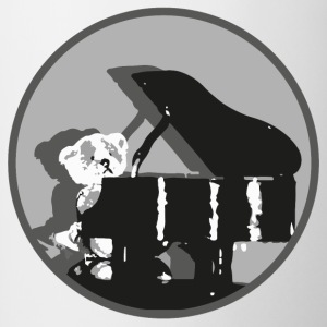 Teddy pianist - Mok tweekleurig
