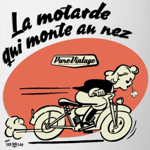 La motarde qui monte au nez - Mug contrasté