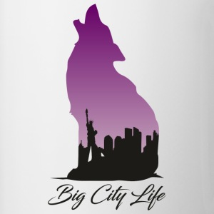 Loup à New York Design - Big City Life - Tasse bicolore