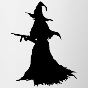 Witch with Assault Rifle / AK for Halloween - Contrasting Mug