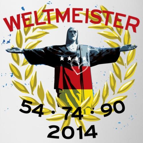 Deutschland Fußball Weltmeister - Tasse zweifarbig