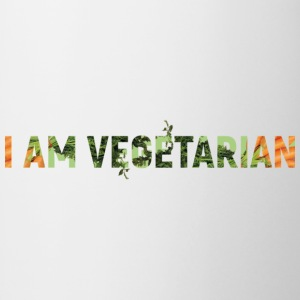 I am vegetarian - Mok tweekleurig