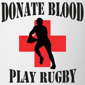 Rugby Donate Blood Play Rugby - Contrasting Mug