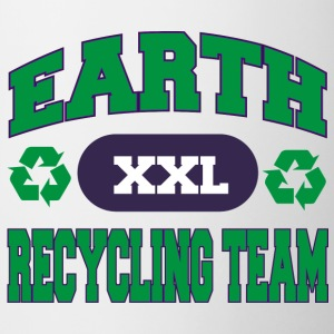 Earth Day Recycle teamet - Tofarget kopp