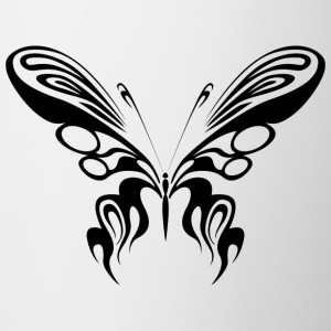 Tribal Tattoo Schmetterling / Butterfly / Falter - Tasse zweifarbig