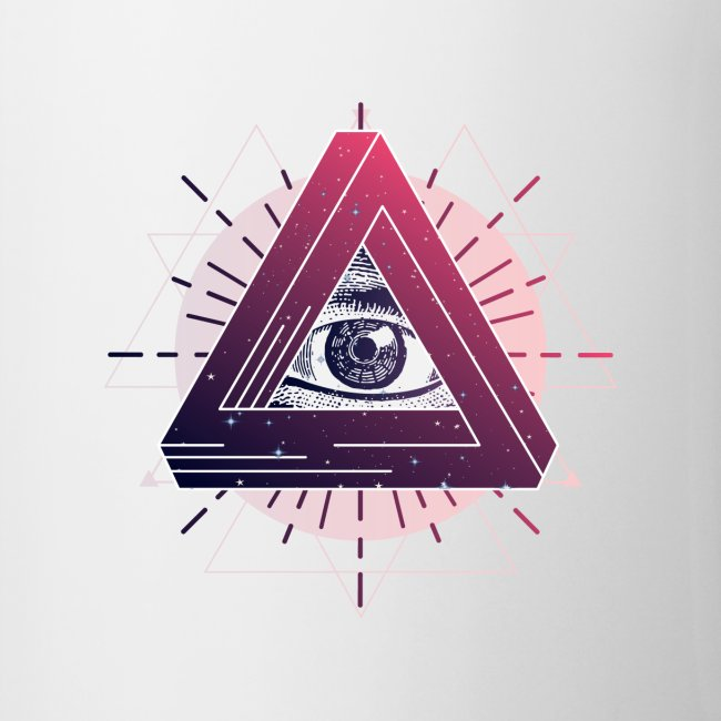 All-seeing eye triangle magic