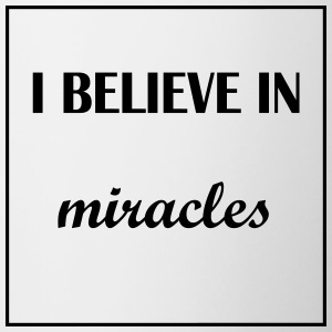 I believe in miracles - Tasse zweifarbig