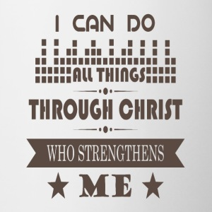 Jesus Christ Strengthens me - Jesus Helps me - Contrasting Mug