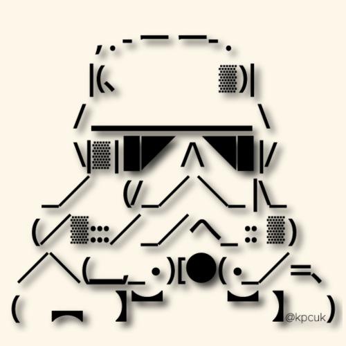 ASCII Art Stormtrooper - Text art - Contrasting Mug