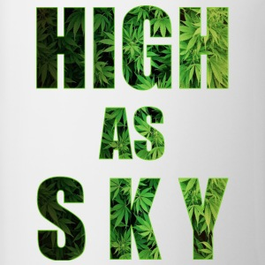 High as Sky Weed Design - Tasse zweifarbig