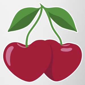 cherries and hearts - Tazze bicolor