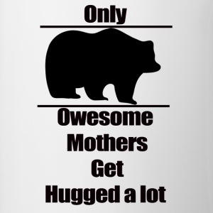 Mother t-shirt, Only owesome mothers get hugged a - Contrasting Mug