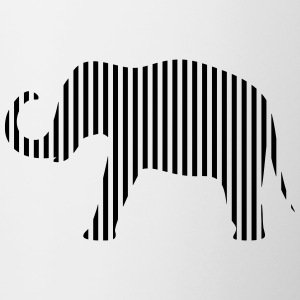 Elephant in strips - Contrasting Mug