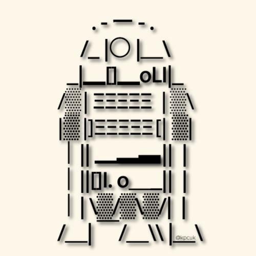 ASCII Art R2 D2 - Text art - Contrasting Mug
