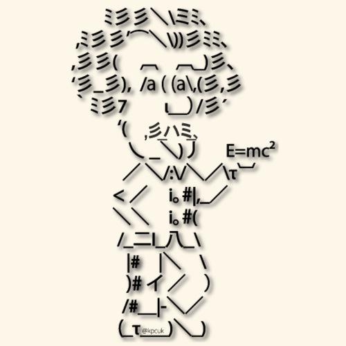 ASCII art Einstein - Text art - Contrasting Mug