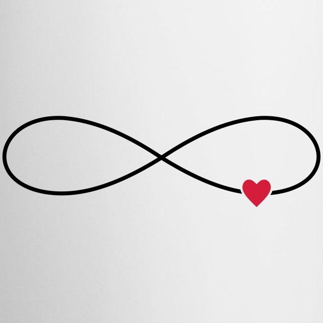 Unendliche Liebe Herz Symbol Zeichen - Tasse zweifarbig