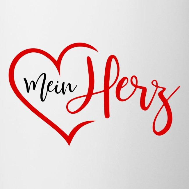 Simsalapimp Mein Herz Mit Herz In Rot Tasse Zweifarbig