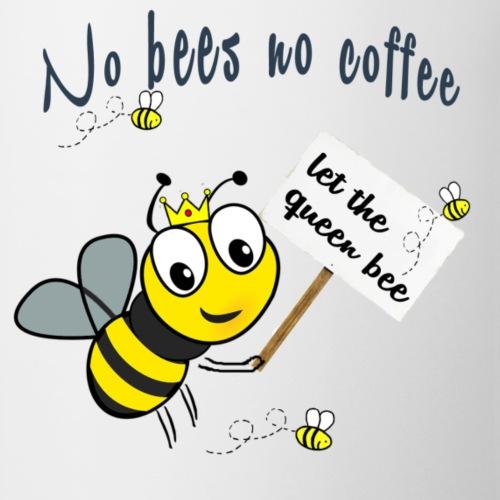 Save the bees with this cute design! Steun de bij - Mok