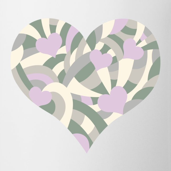 Herz viola camouflage