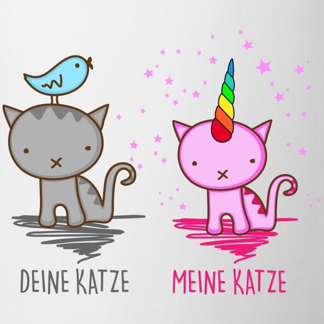 Vorschau: Deine Katze vs. Meine Katze - Tasse