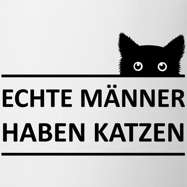 Vorschau: Echte Männer haben Katzen - Tasse