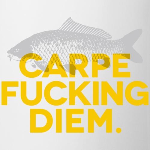 CARPE FUCKING DIEM jaune - Mug blanc