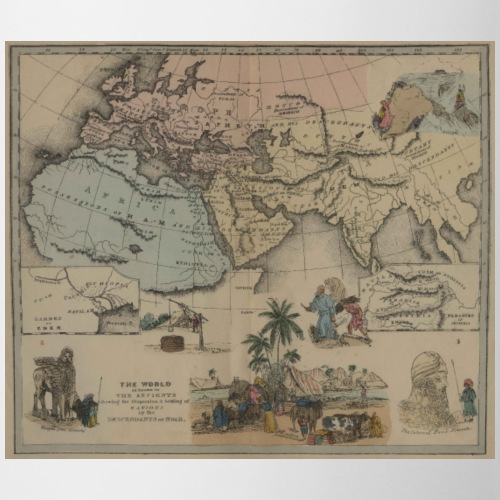 Pictorial Bible Maps 1856 Ancient World - Mug