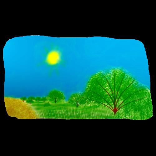 árboles y prado - Taza