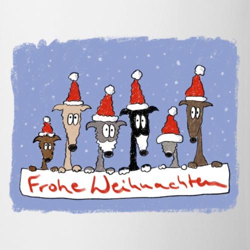 Weihnachten mit Windhunden - Tasse
