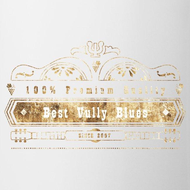 Dobro bester Vully Weinlese-Blau-Rost auf Weiß