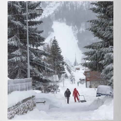 Mug le village en hiver - Mug blanc