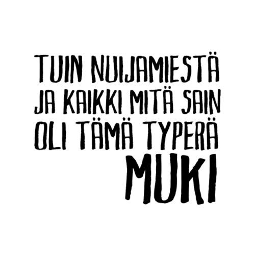 Muki mustalla tekstillä - Muki